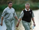 Lee Westwood and Colin Montgomerie in Ryder Cup action