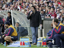 Martin Bayfield prowls the touchline