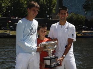 Djordje Djokovic Is Carbon Copy Of Brother Novak Djokovic Tennis News Espn Co Uk