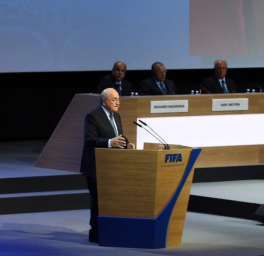 25308 - Blatter re-elected as FIFA president