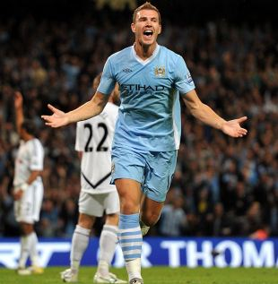 Edin Dzeko the 'main striker' at Manchester City says Manuel Pellegrini | Football News | ESPN.co.uk