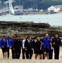 France's rugby union squad take a stroll