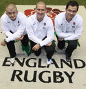 Stuart Lancaster, Andy Farrell and Graham Rowntree pose