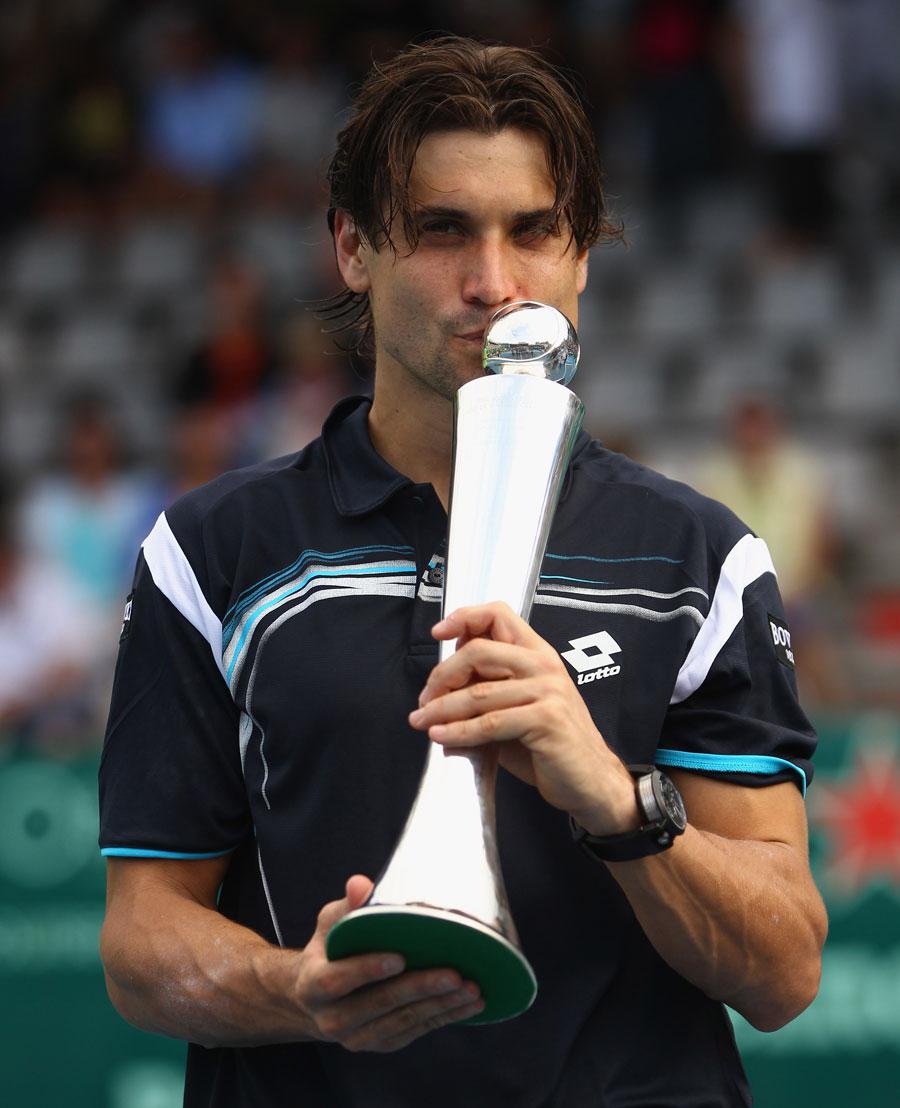 33521 - David Ferrer tired after winning third Auckland crown