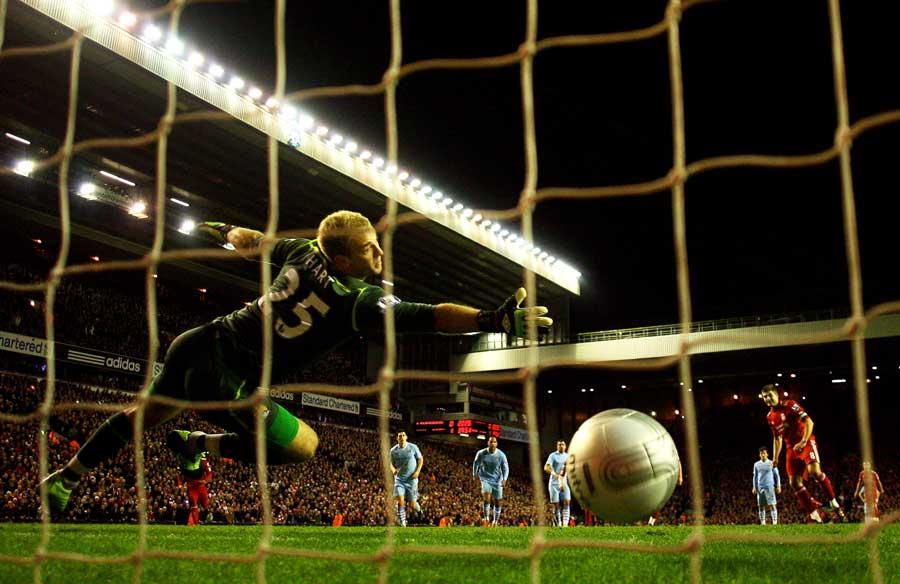 to keep out Steven Gerrard's penalty | Photos | Golf | ESPN.co.uk