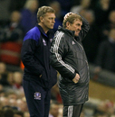 David Moyes and Kenny Dalglish watch the action