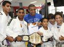 Jose Aldo attends the partnership between the Institute and the UFC judoka Flavio Canto to the Sports Center