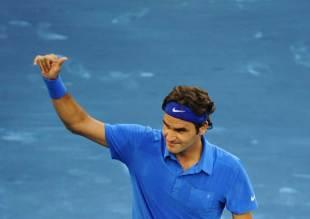 379442 - Federer sinks Ferrer to reach Madrid semis