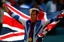 Andy Murray celebrates winning Olympic gold