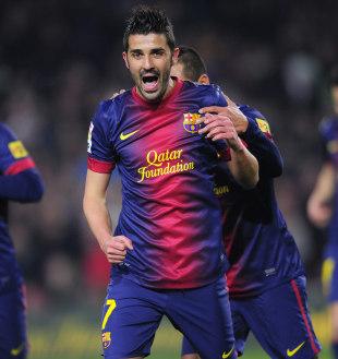Atletico Madrid beat Tottenham Hotspur to the £4.4m fee signing of Barcelona striker David Villa   Football News   ESPN.co.uk
