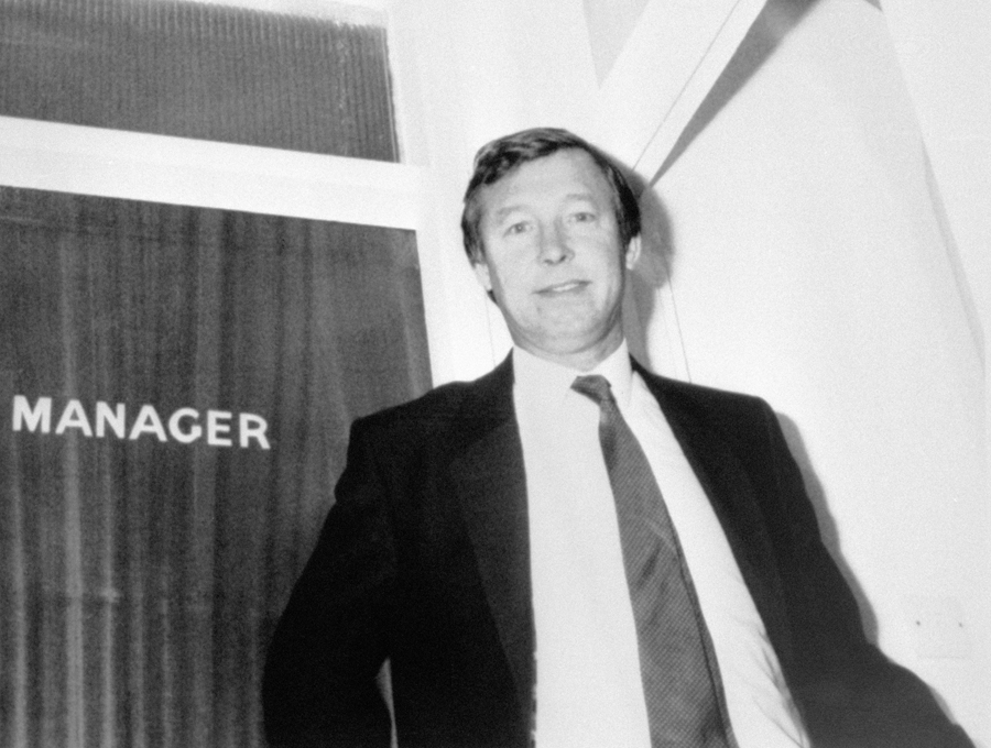 Sir Alex Ferguson before his first game in charge