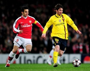 Lionel Messi Scores Four To Knock Arsenal Out Of The Champions League Football Rewind To Espn Co Uk
