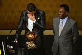 112b3b4ae34 Cristiano Ronaldo wins 2013 FIFA Ballon d Or award ahead of Lionel ...
