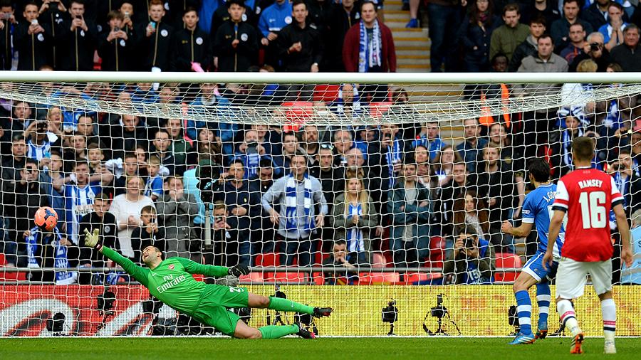 Wigan 1-1 Arsenal (2-4 on penalties): Fabianski saves, Arteta, Cazorla, Kallstrom, Giroud score | Football Match report | ESPN.co.uk