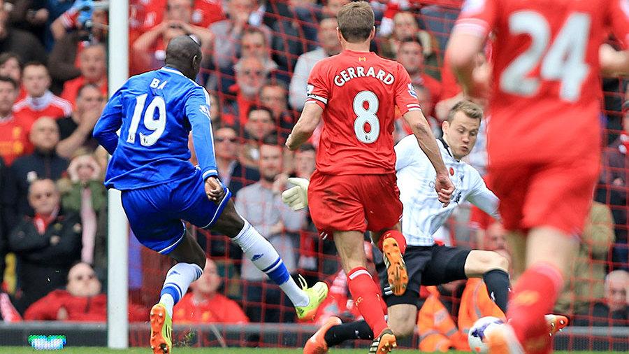 Liverpool 0 2 Chelsea Steven Gerrard S Slip Loosens Grip On Title Football Match Report Espn Co Uk