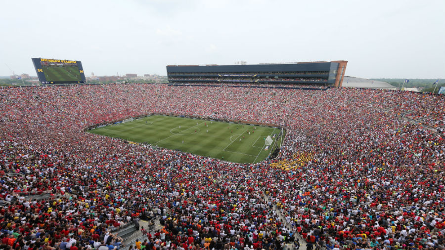 manchester united 3 1 real madrid record attendance of 109 318