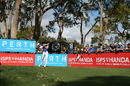 Thorbjorn Olesen carded a course-record eight-under-par 64 to lead the Perth International